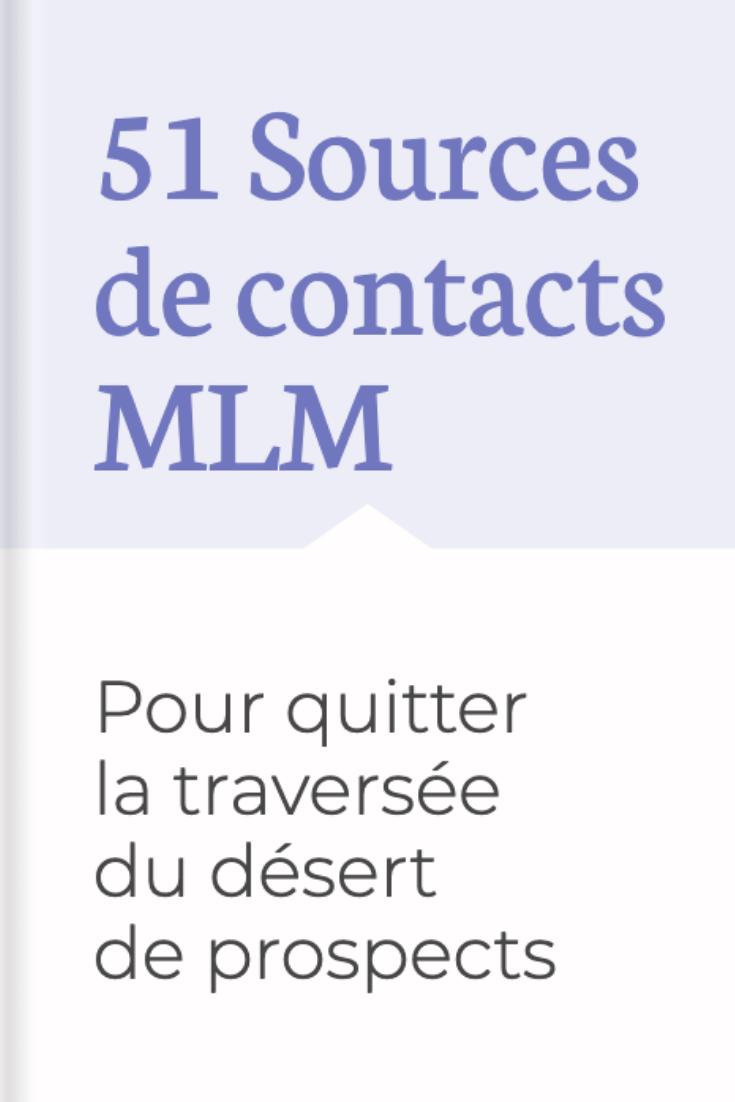 Accédez gratuitement à 51 sources de contacts MLM